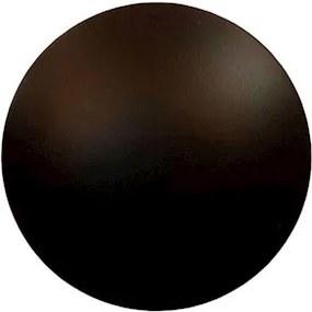 Arandela Redonda Alumínio Preto Led 12W Pleine Lune 127V