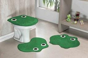 Jogo de Banheiro Guga Tapetes Formato Sapo 03 Peças Verde Bandeira