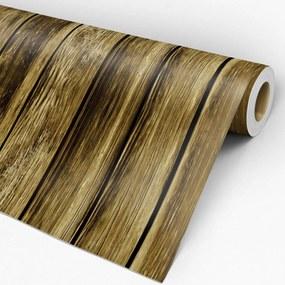 Papel de parede adesivo madeira ripas envelhecidas