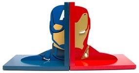 Aparador de Livros Guerra Civil Capitão América e Homem De Ferro Vingadores Marvel