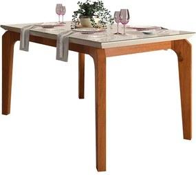 Mesa de Jantar Dália para 4 cadeiras 140cm Rústico Terrara Off White