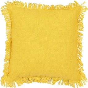 Capa para Almofada Campestre Solid de 40 x 40 cm Amarela