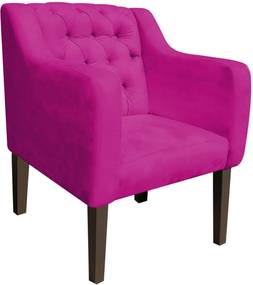Poltrona Decorativa Lisa Suede Pink - D'Rossi