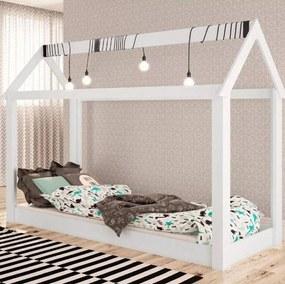 Cama Infantil Casinha P/ Quarto Montessoriana Branco - Completa Móveis