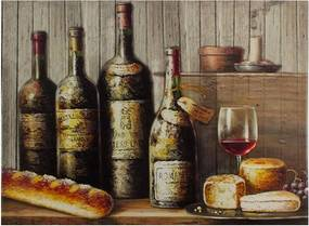 Tela Impressa Garrafas de Vinho