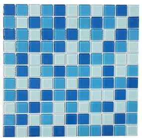 Pastilha de Vidro Cristal Mescla Azul VGS9996 2,5x2,5cm Placa de 30x30cm - Van Gogh - Van Gogh
