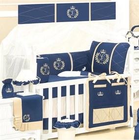 Quarto Completo Padroeira Baby Feito A Mão Luxo Azul Marinho