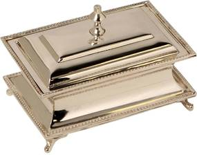 Caixa Decorativa de Prata Plunt