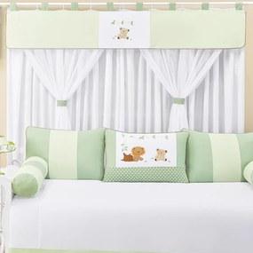 Cortina Quarto de Bebê Animais Verde
