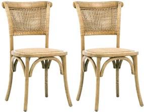 Kit 02 Cadeiras Para Sala de Jantar Cozinha Very Oak Rattan - Gran Belo
