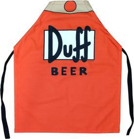 Avental Zona Criativa Duff Beer Vermelho