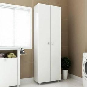 Armário para Lavanderia Multifuncional 2 portas Branco