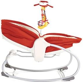 Cadeira de Balanço 3 em 1 Rocker-Napper Vermelha e Bege Tiny Love