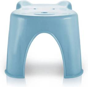 Banquinho Plástico Infantil Jacki Design Suporta Até 45 Kg Azul