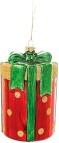 Caixa De  Presente Natal P/Pendurar Árvore 11Cm Vermelho