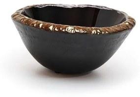 Bowl Preto com Borda Dourada Regina Medeiros