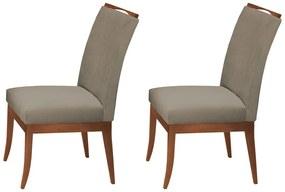 Conjunto 2 Cadeiras Sala de Jantar Lana Aveludado Cappuccino