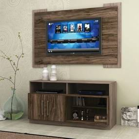 Kit Home Rack +  Painel Kansas para TV até 55' MDP Sintra  -  Megasul