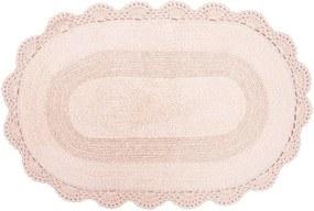 Tapete Oval de Crochê 50cm x 80cm - Coral - Kacyumara