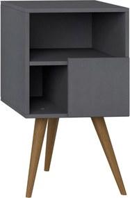 Mesa de Cabeceira Com Porta Expresso Be Mobiliário Cinza