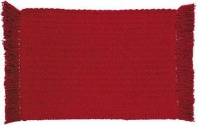 Lugar Americano Campestre Jacquard de 30 x 45 cm Vermelho