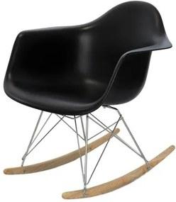 Cadeira Eames com Braco Base Balanco Preto Fosco - 24503 Sun House