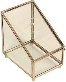 Caixa de Chá de Vidro Slin com acabamento de Metal