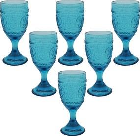 Jogo de Taças de Vinho em Cristal Azul