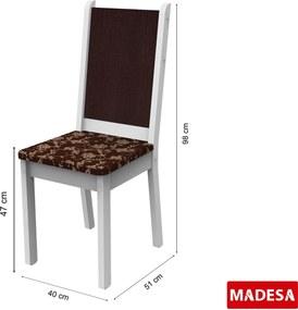 Mesa de madeira e 4 cadeiras Rita Branco Madesa