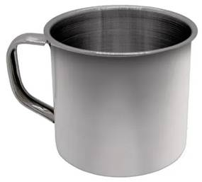 Caneca em Aço Inox 7 cm 225 ml Polido Chá Leite Café Ke Home