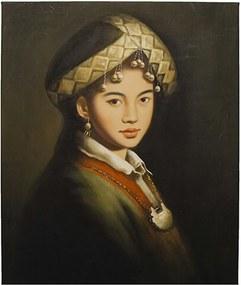 Quadro Yunnan Girl Colar Sem Moldura