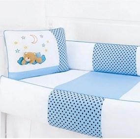 Kit Berço Soninho Azul 8 Peças