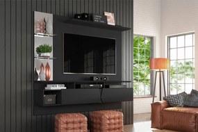 Painel para TV com Portas Basculantes Intense Preto Fosco