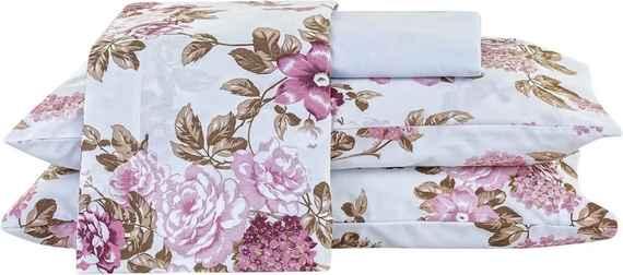 106bf89c0d Jogo de Cama Arzene King Floral Rosê Com Elástico com 4 peças - Enxovais  Ibitinga
