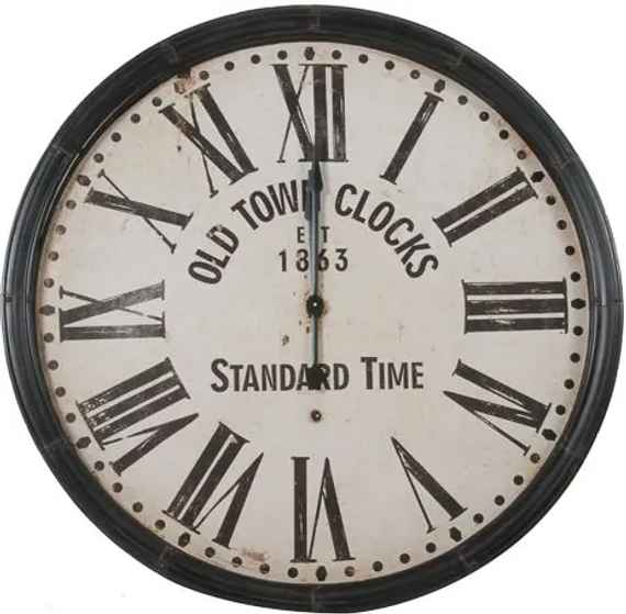 30e1fddd80f Relógio Decorativo de Parede Old Town