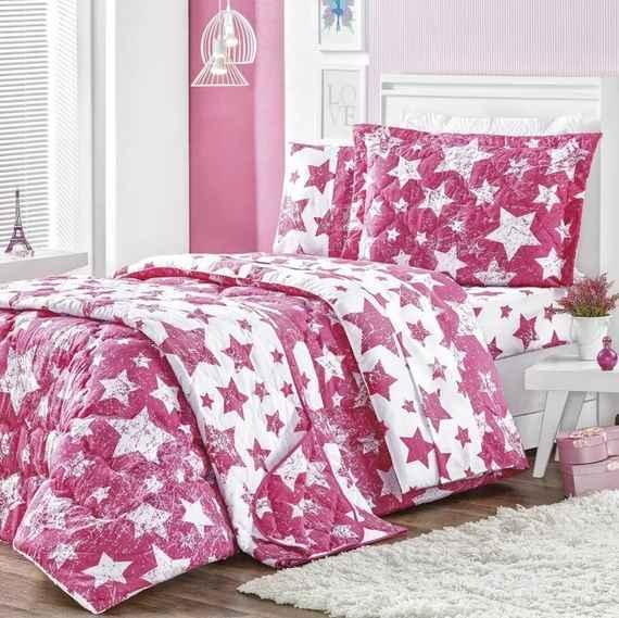 f74b905c44 Edredom Solteiro Star 01 Peça - Estampa Pink