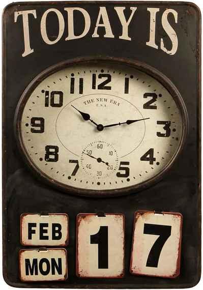 3929275fa60 Relógio de Parede Decorativo Good Days com Calendário de Metal