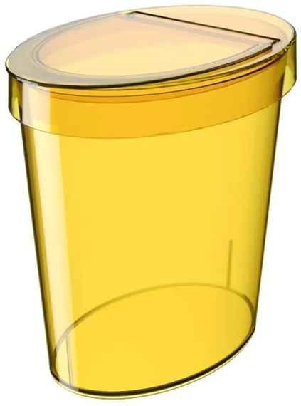 Lixeira Oval Glass 5 Litros Amarelo Coza 987ea1d086c